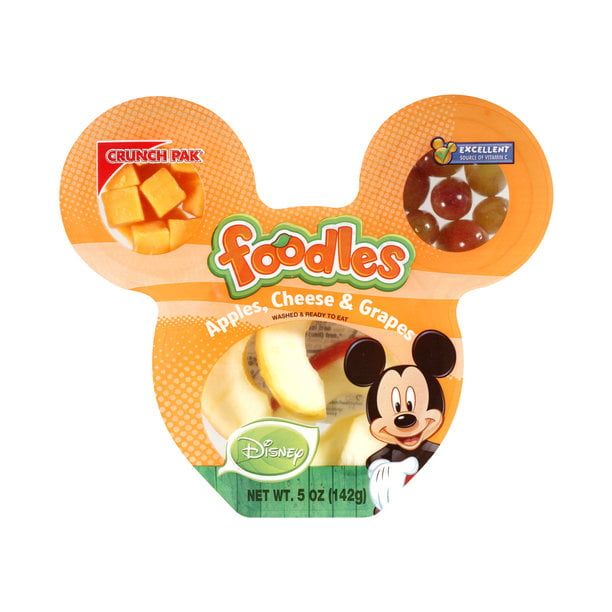 Crunch Pak Foodles Disney Apples, Cheese & Grapes, 5 oz