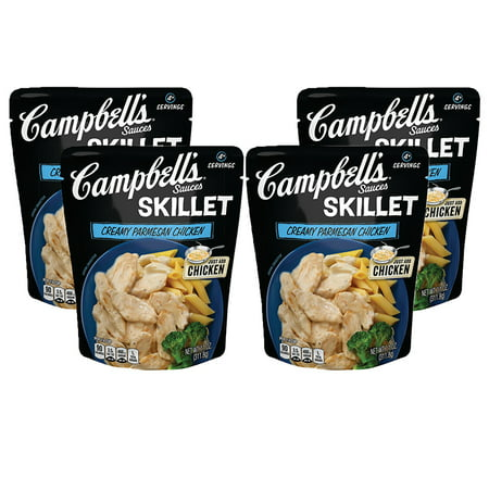 (4 Pack) Campbell's Skillet Sauces Creamy Parmesan Chicken, 11 oz.