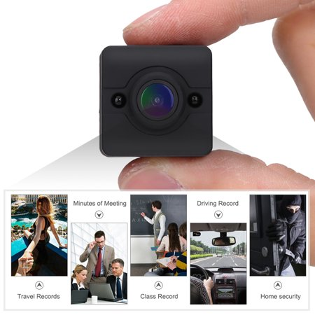 EECOO Mini Home Security Camera,1080P HD Portable Mini Infrared Waterproof Cube Action Camera Camcorder with Mounts,Sports Camera