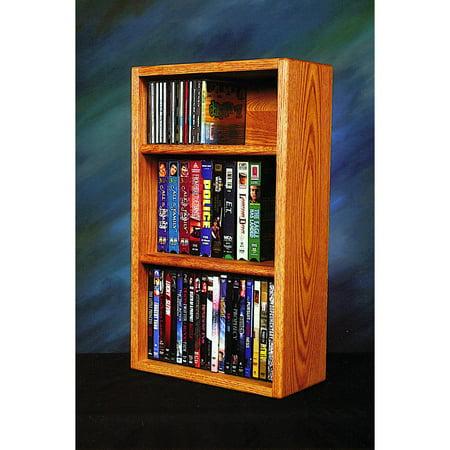 The Wood Shed Solid Oak Desktop / Shelf 55 CD / DVD / VHS Tape Media Rack ()