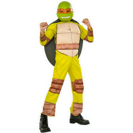 Michelangelo Ninja Turtle Costume (Teenage Mutant Ninja Turtles boys deluxe michelangelo halloween)