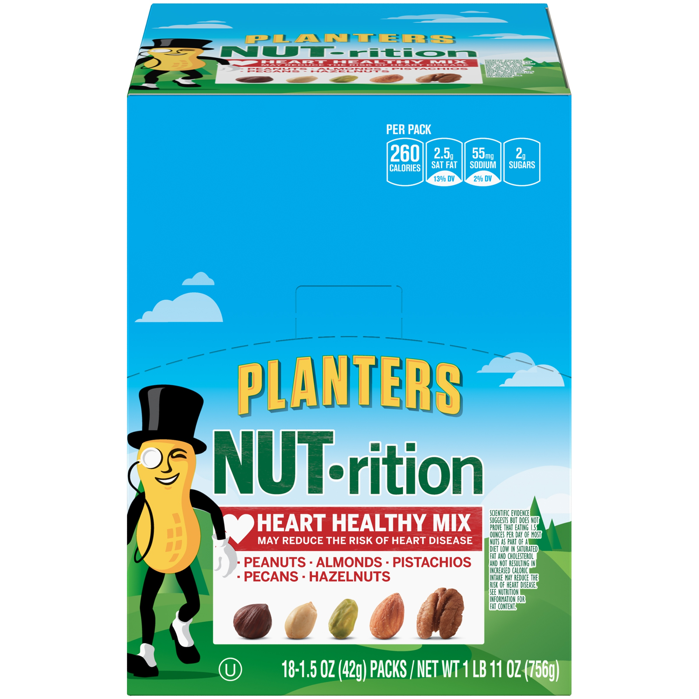 Planters NUT-rition Heart Healthy Mix 18-1.5 oz. Packs