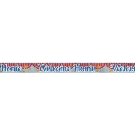 3d Welcome Banner - 9' Prismatic Foil Welcome Home Banner