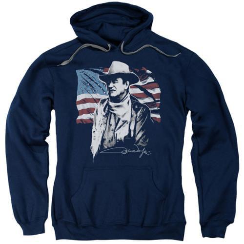 John Wayne American Idol Mens Pullover Hoodie Navy 2X