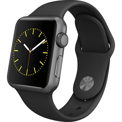 Refurbished Apple Watch Gen 1 Sport 38mm Space Gray Aluminum - Black Sport Band MJ2X2LL/A