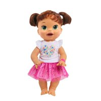 Baby Alive White Tee with Pink Tutu - Single Outfit Clothes Set for Doll with Accessories
