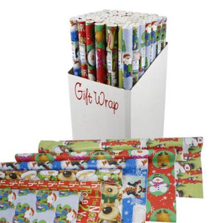 DDI 2322677 40 sq. ft. Gift Wrap, Assorted Color - 132 Per Pack - Case of (Cedar Shake Siding Cost Per Sq Ft)
