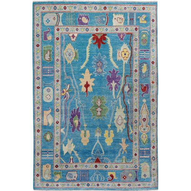 Floral Vegetable Dye Oushak Turkish Oriental Area Rug Handmade Foyer Carpet 5x8 Walmart Com Walmart Com