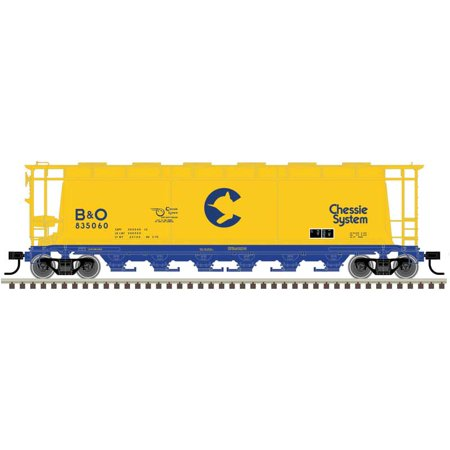 Atlas HO Scale ACF 6-Bay Cylindrical Hopper Car Chessie System/B&O #835058