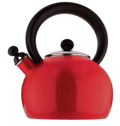 Copco Bella Enamel-on-Steel Red 2qt Tea Kettle