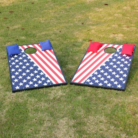 Cornhole Bean Bag Toss Game Great for Outside Yard Kids Games -...