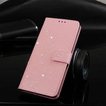Ustyle Replacement for iPhone Xs Max Rhinestone Case Flip Wallet Cover Phone Holder Elegant Solid PU Leather Cover - image 9 of 9