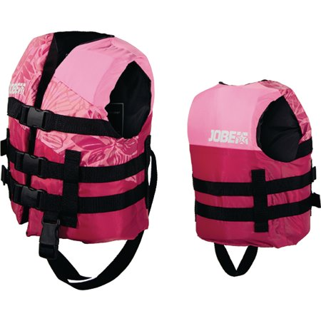 Jobe 247718012 Pink 30 to 50 lbs. Child Nylon Life Vest Pink Life Jackets