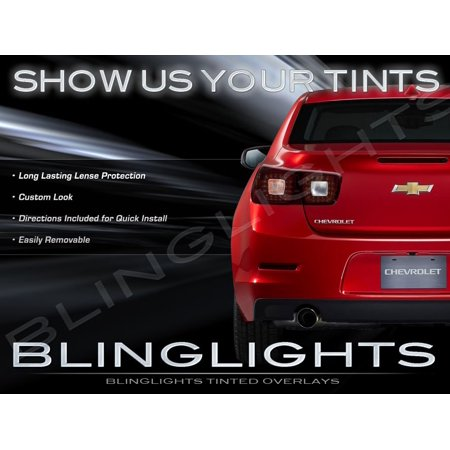 New 2013-2016 Chevrolet Malibu Tinted Smoked Overlays Taillamps Chevy Taillights - Chevy Overlay