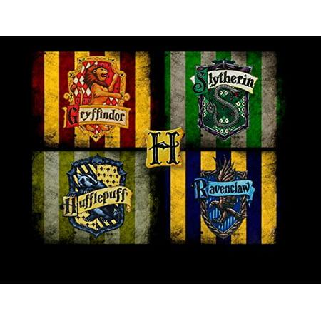 Harry Potter Cake Decorating - 1/4 Sheet Harry Potter Hogwarts Slytherin Crest Edible Frosting Cake Topper- 13828*