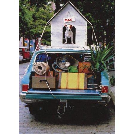 Humorous House - Avanti Press Dog House on Car Funny / Humorous Goodbye Card