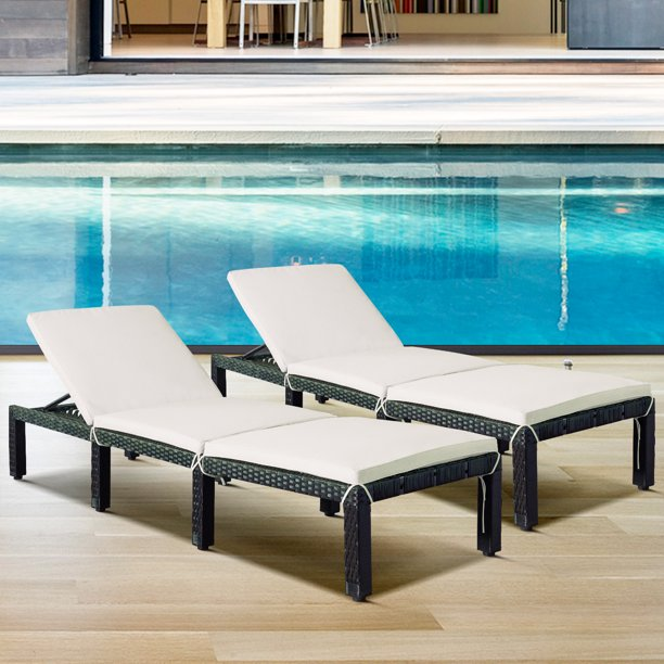 Outdoor Chaise Chair Set Of 2 Btmway, Patio Furniture Chaise Lounge
