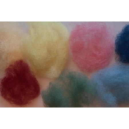 Canvas Print Colored Raw Wool Colorful Wool Felt Sheep's Wool Stretched  Canvas 10 x 14