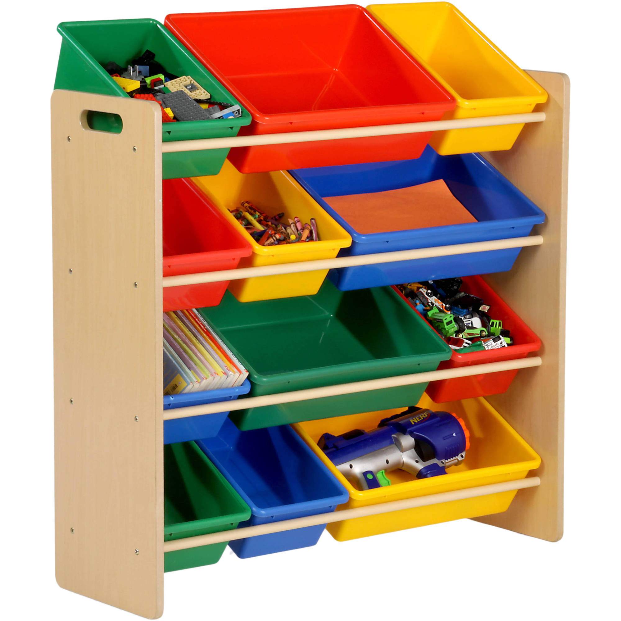 Honey Can Do Kidu0027s Toy Organizer with 12 Storage Bins Multicolor - Walmart.com  sc 1 st  Walmart & Honey Can Do Kidu0027s Toy Organizer with 12 Storage Bins Multicolor ... Aboutintivar.Com