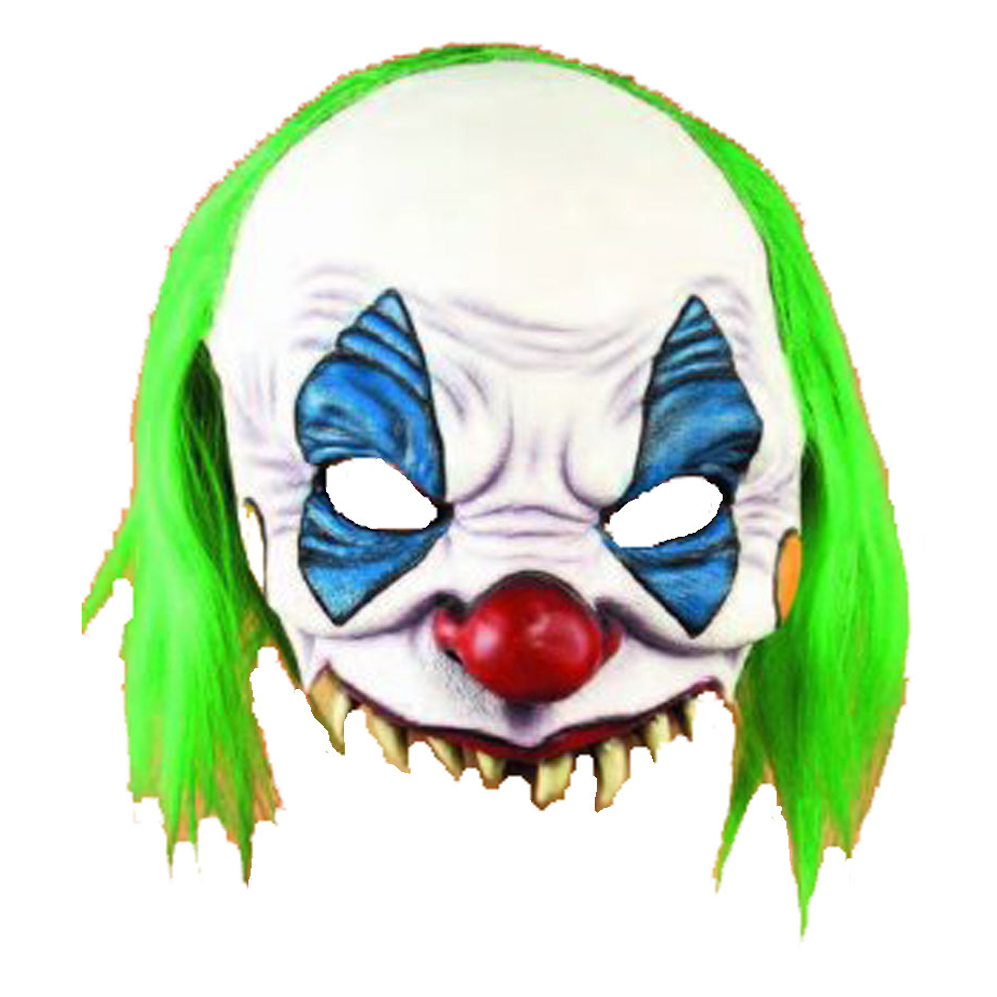 New Adult Scary Evil Clown Mask Costume Accessory