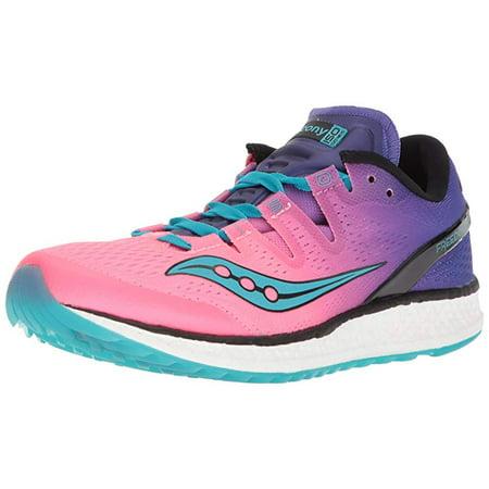 85ea96c2 Saucony Women's Freedom ISO Running Shoe, Pink/Purple, 8.5 B US