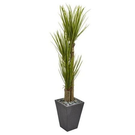 Orren Ellis Triple Stalk Artificial Floor Yucca Plant In Planter