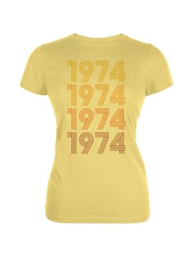 1986a480 Product Image Retro Vintage Flashback Paralines Birthday 1974 Juniors Soft  T Shirt. Product TitleOld GloryRetro ...