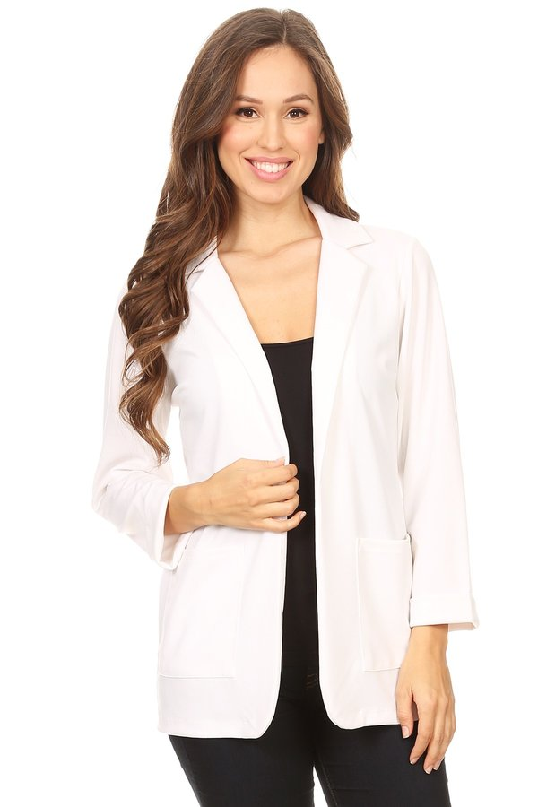 Women's Solid Loose Fit Jacket