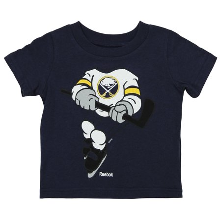 Reebok NHL Infants Buffalo Sabres Dream Hockey Short Sleeve Tee, Navy Authentic Reebok Nhl Hockey Jersey