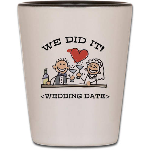 Cafepress Personalized Funny Wedding Shot Glass