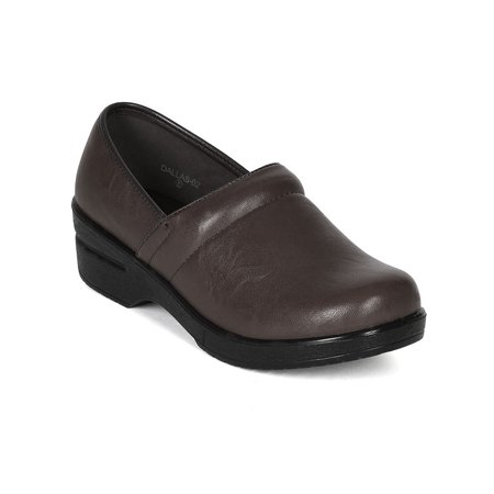 (New Women Refresh Dallas-02 Leatherette Round Toe Slip On Clog)