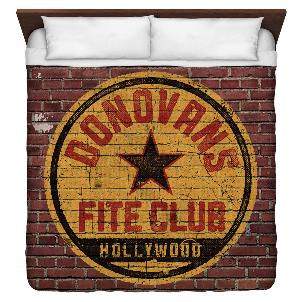 Ray Donovan Fite Club King Duvet Cover White 104X88