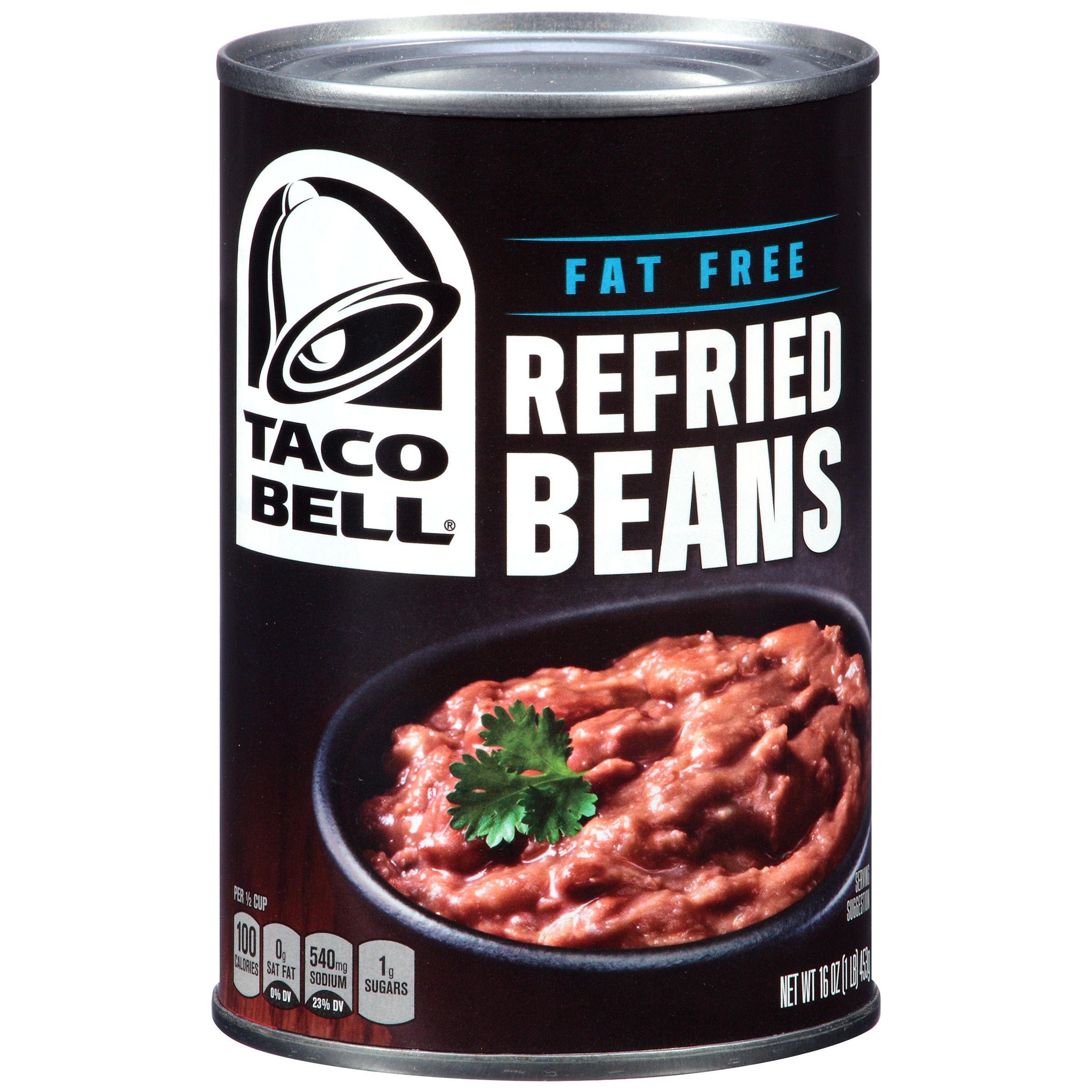 Taco Bell Refried Beans, Fat Free, 16 Oz