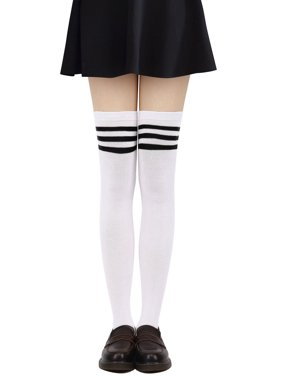 1f6b7b47c3c Product Image Knee High Socks Women s Retro Striped Thigh High Socks Tube  Socks