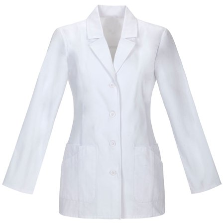 Panda Uniform Made To Order 29-Inches Women's Four Pocket 4 Buttun Full Sleeves Short Lab Coat Charcoal Cropped Sleeve Jacket