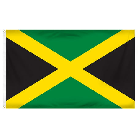 Jamaica 3ft x 5ft Printed Polyester Flag