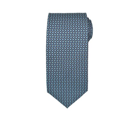 Ferragamo Necktie (Salvatore Ferragamo Men's Gray Blue Floral Silk Neck Tie )