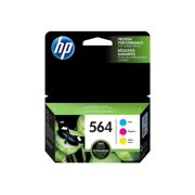 HP 564 Cyan, Magenta, & Yellow Original Ink Cartridges, 3 Cartridges (N9H57FN)