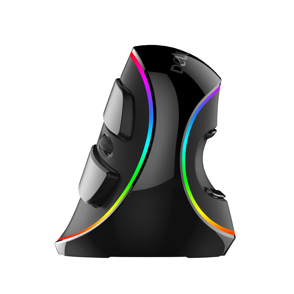 Delux M618 Plus RGB Optical Wired Mouse 800/1200/1600/2400/4000 DPI 5 Levels Ergonomic Mouse With 6 Buttons For PC Laptop Desktop