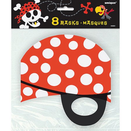 (3 Pack) Pirate Party Masks, 8ct