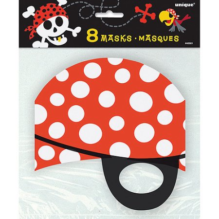 (3 Pack) Pirate Party Masks, 8ct (Pirate Halloween Party Games)
