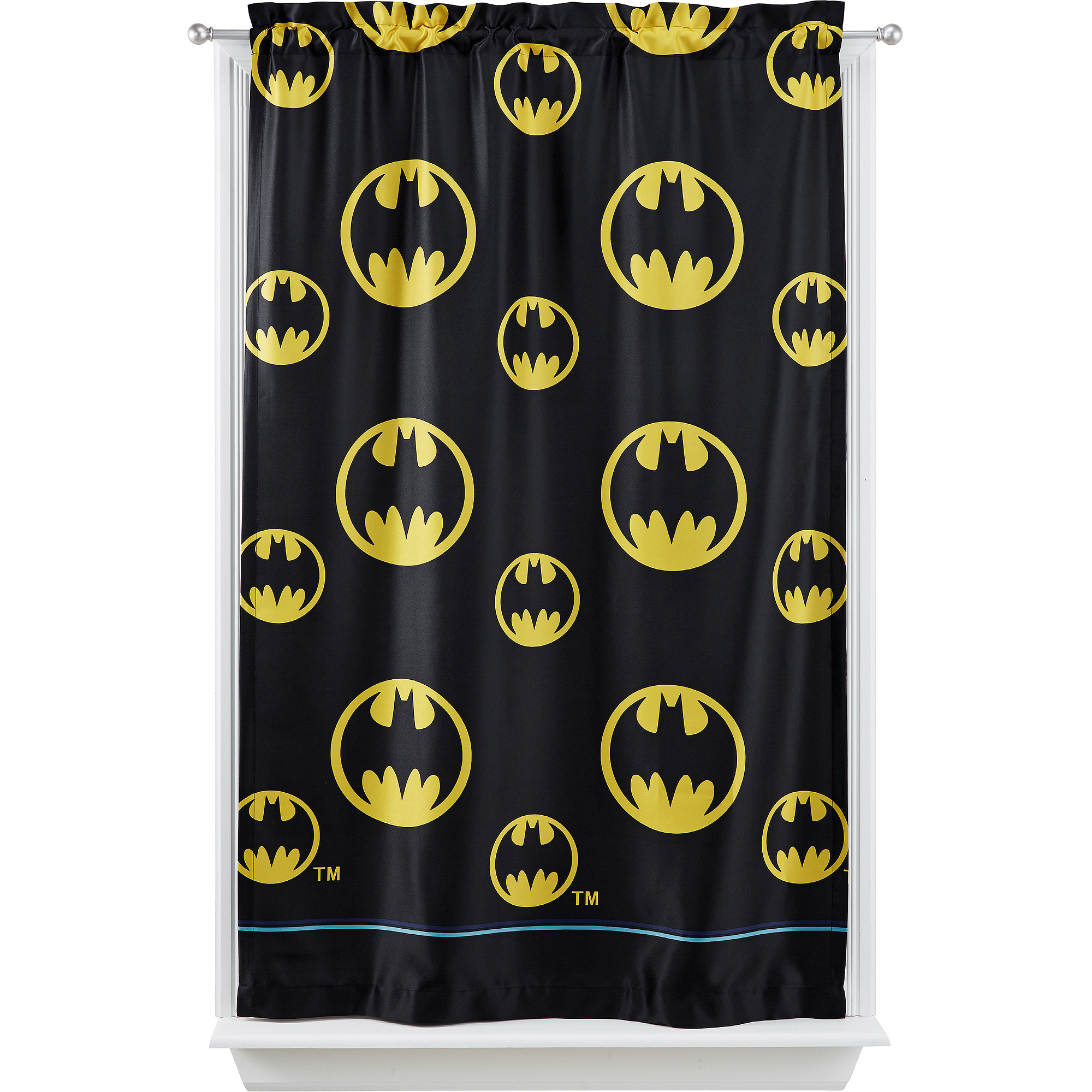 "Warner Bros Batman ""After Dark"" Room Darkening Curtain Panel"