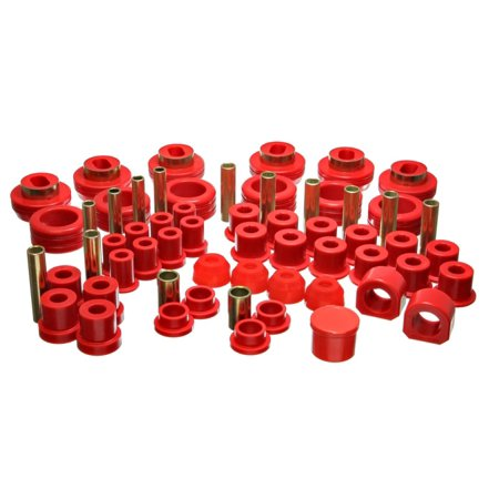 Energy Suspension 81-87 Chevy/GMC 4WD (w/ Aftermarket Frt Springs) Red Hyper-flex Master Bushing Set - Gmc C2500 Energy Suspension