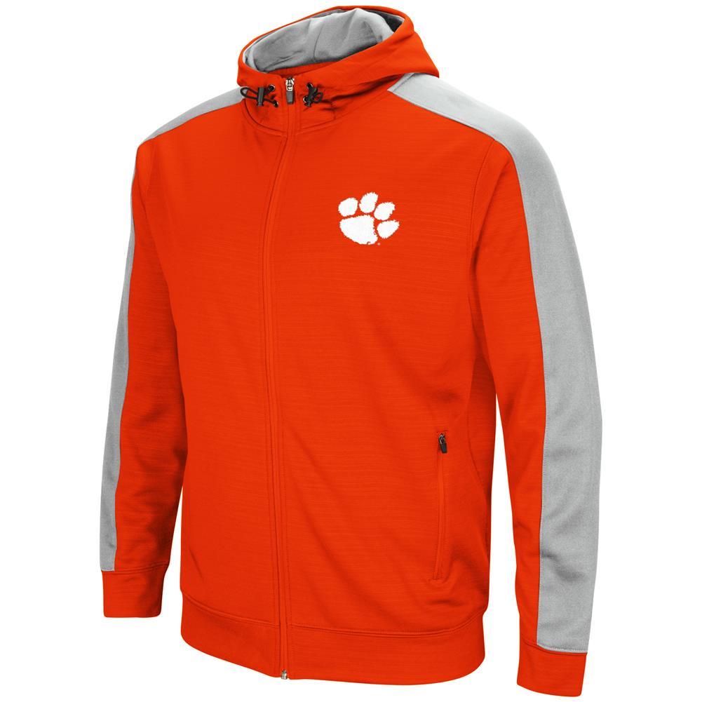 Clemson University Tigers Performance Fleece Jacket Full Zip Hoodie by Colosseum