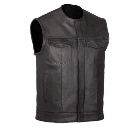 First Manufacturing Men's No Rival Motorcycle Vest Black M