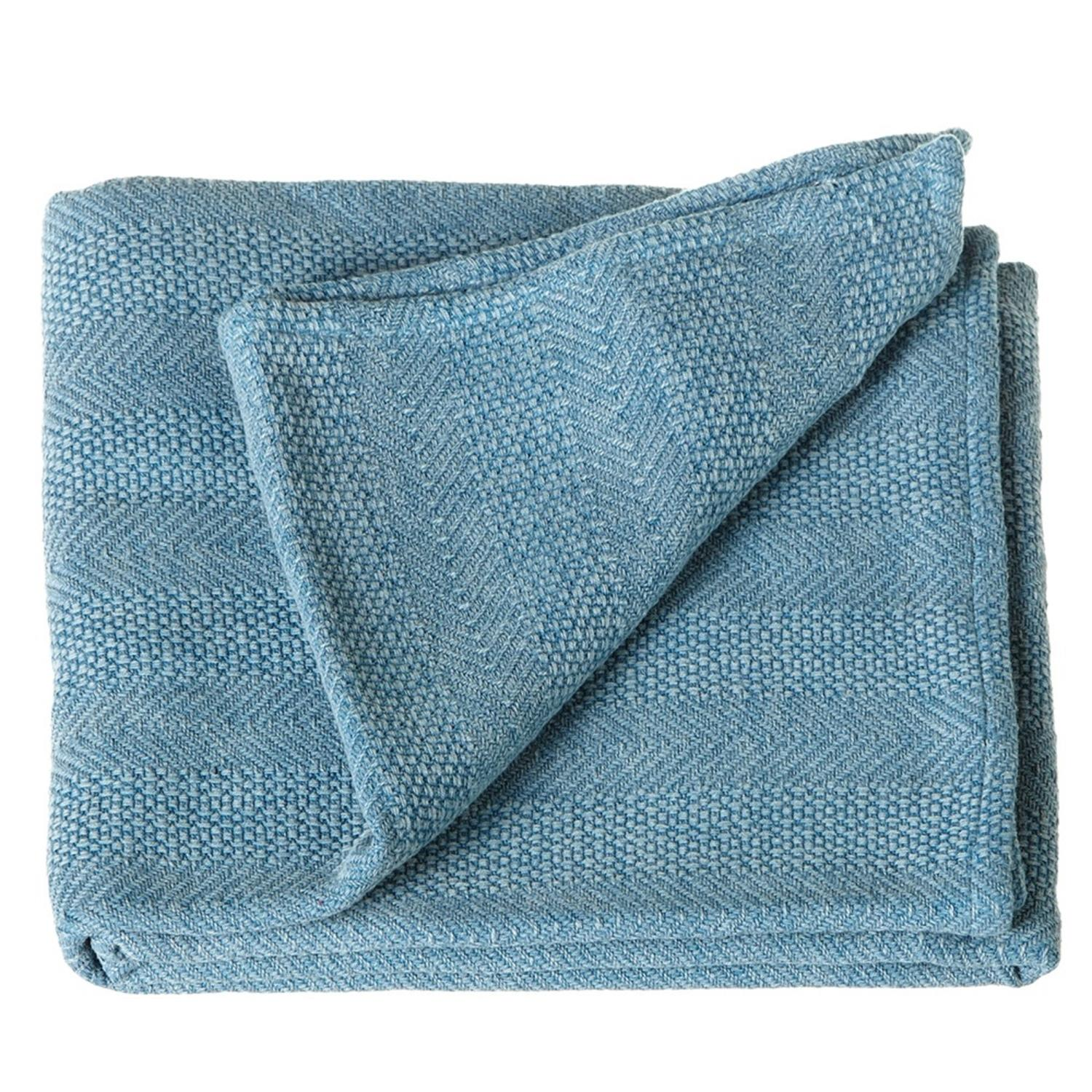 "Set of 2 Sky Blue Arrow Striped Antique Wash Throw Blanket 50"" X 60"""
