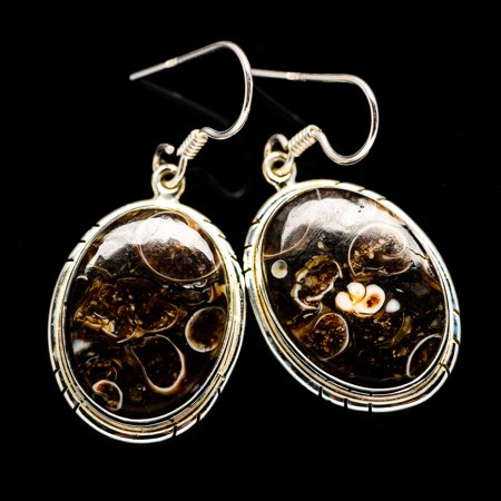 Turritella Agate Earrings 1 1/2