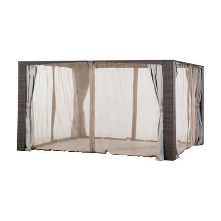 Sunjoy Replacement Mosquito Netting For 10'x12' Augusta Wicker Gazebo, Original Version ()