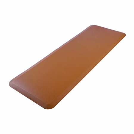 "Akoyovwerve Antifatigue Kitchen Floor Mat,24"" x 70"" x 3/4"" Rectangle Floor Mat for Home Brown Lattice"