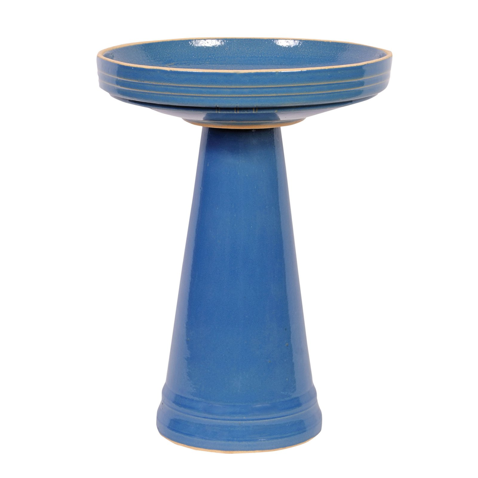 Birds Choice Burley Clay Birdbath Blue by